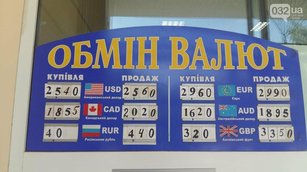 Скільки коштує долар та євро у Львові: актуальний курс валют станом на 19 серпня (ФОТО), фото-1