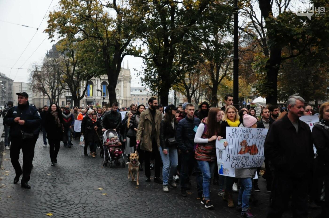 Львів'яни взяли участь у масштабному Марші на захист тварин. Фоторепортаж, фото-26