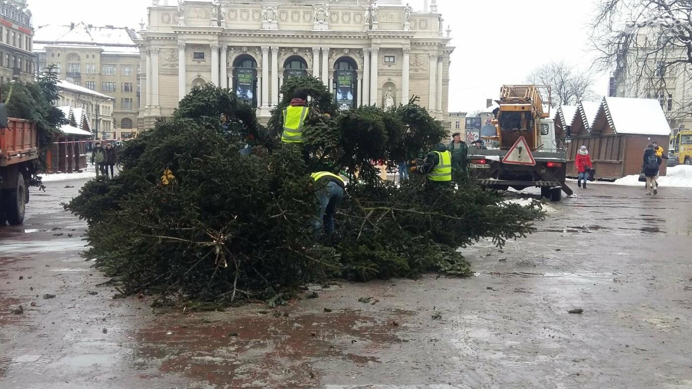 У Львові демонтували головну новорічну ялинку (ФОТО), фото-3