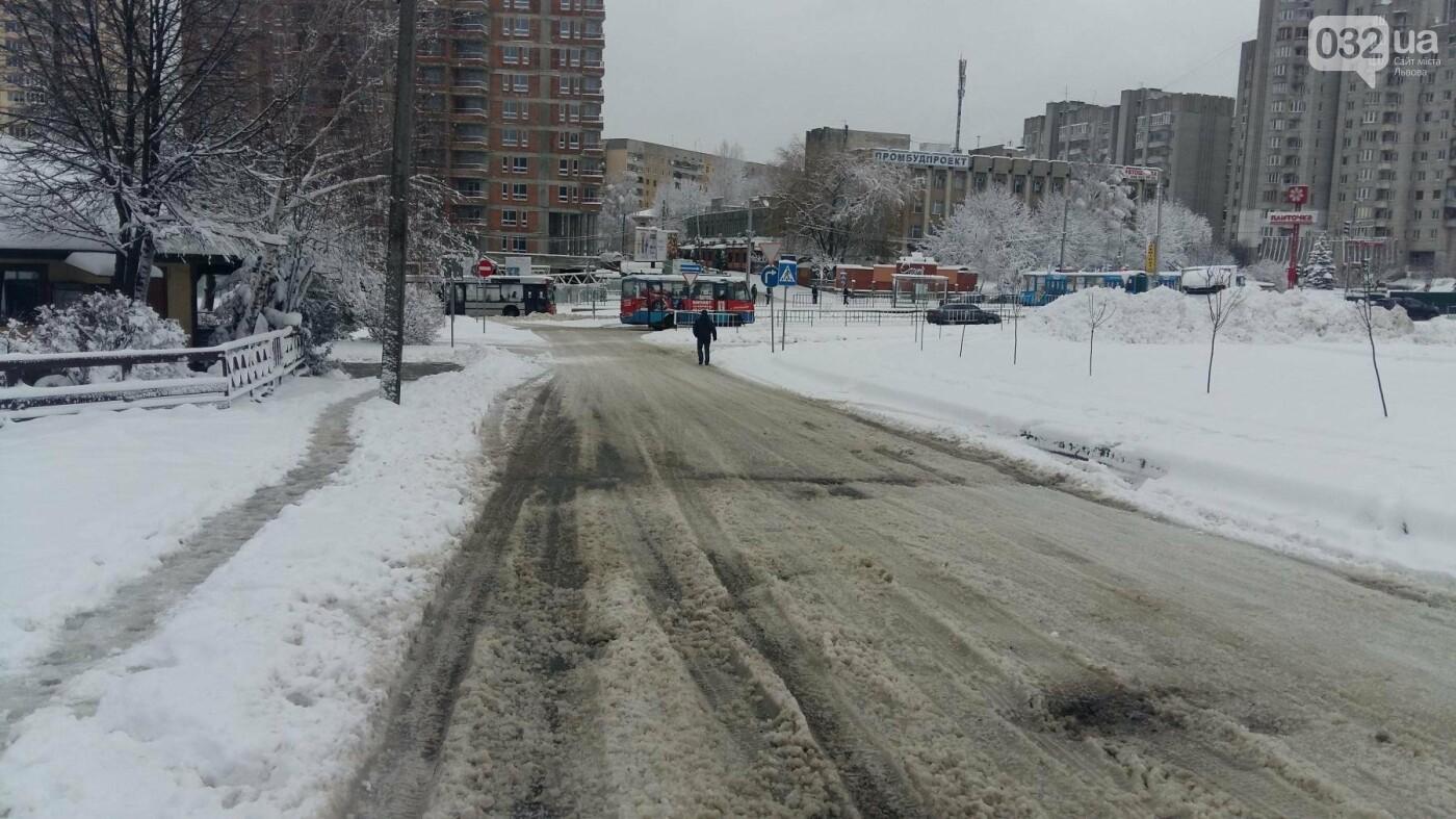 До Львова повернулася зима: як розчищають вулиці міста. Фото, фото-5