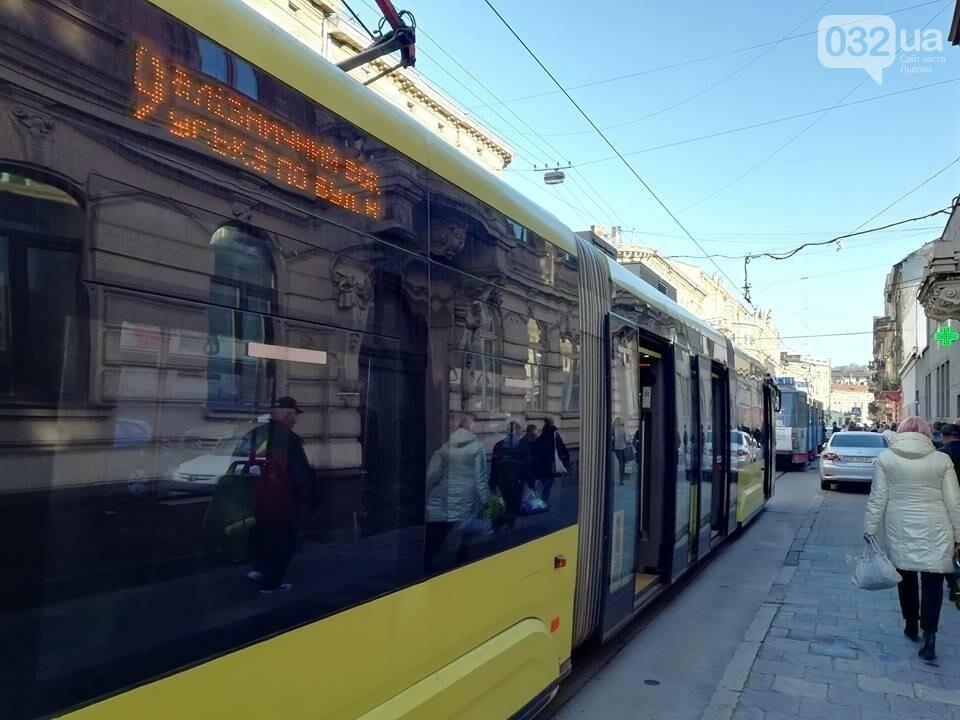 Ситуація на дорогах Львова: затор з трамваїв на вулиці Івана Франка, фото-1