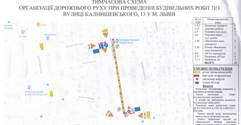 На Левандівці упродовж місяця буде обмежений рух по вул. Калнишевського, фото-1
