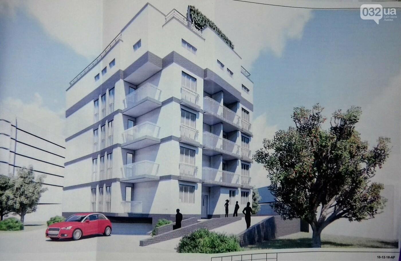 Поблизу вулиці Липинського збудують будинок на 4 поверхи з паркінгом і терасою на даху, - ВІЗУАЛІЗАЦІЯ, фото-1
