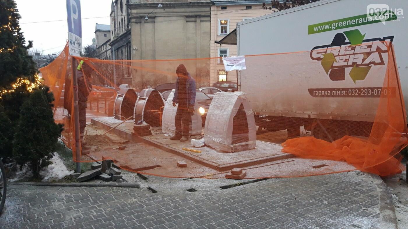 На площі Соборній у Львові встановлюють перші підземні контейнери, - ФОТО, фото-3
