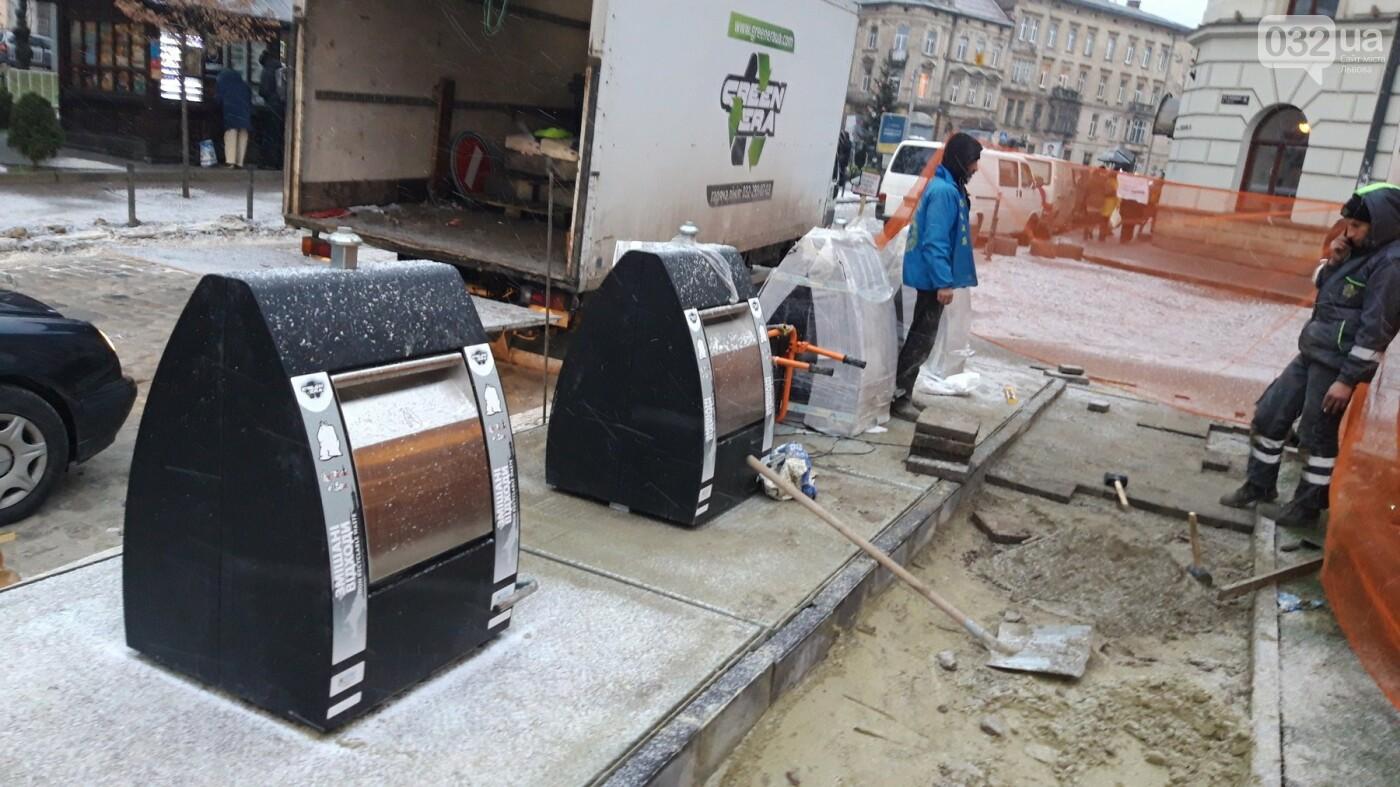 На площі Соборній у Львові встановлюють перші підземні контейнери, - ФОТО, фото-1