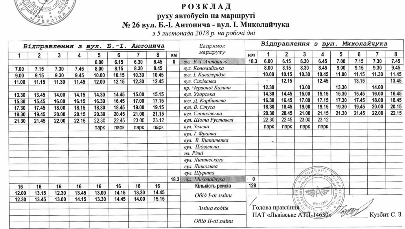 Як у Львові курсують автобуси, - АКТУАЛЬНІ ГРАФІКИ РУХУ, фото-30