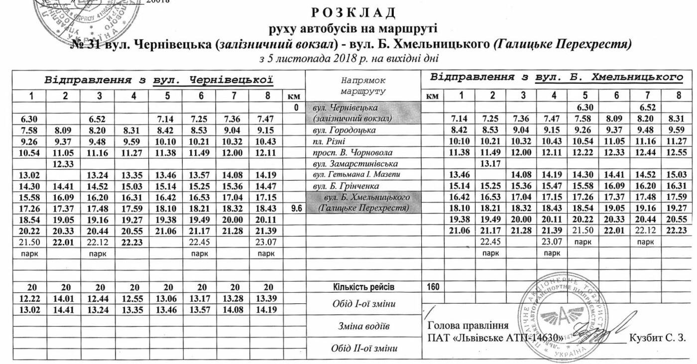 Як у Львові курсують автобуси, - АКТУАЛЬНІ ГРАФІКИ РУХУ, фото-38