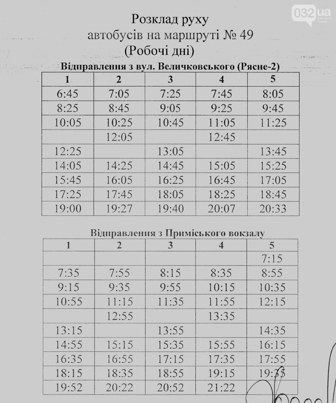Як у Львові курсують автобуси, - АКТУАЛЬНІ ГРАФІКИ РУХУ, фото-69