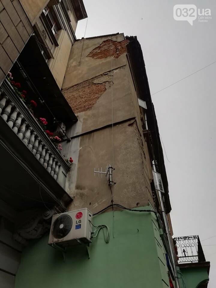 У будинку на вулиці Князя Романа у Львові виявили тріщину на парапетній стінці, - ФОТО, фото-3, Фото: 032.ua