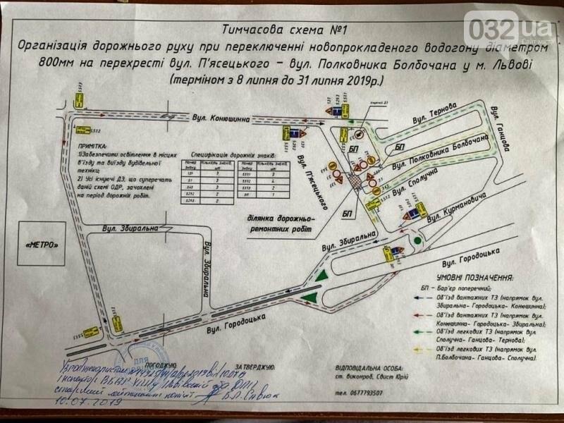 Сьогодні у Львові перекривають два перехрестя і залізничний переїзд, - СХЕМИ, фото-2