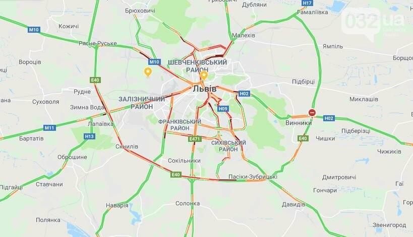 "Мапа Львова ""Google Maps"""
