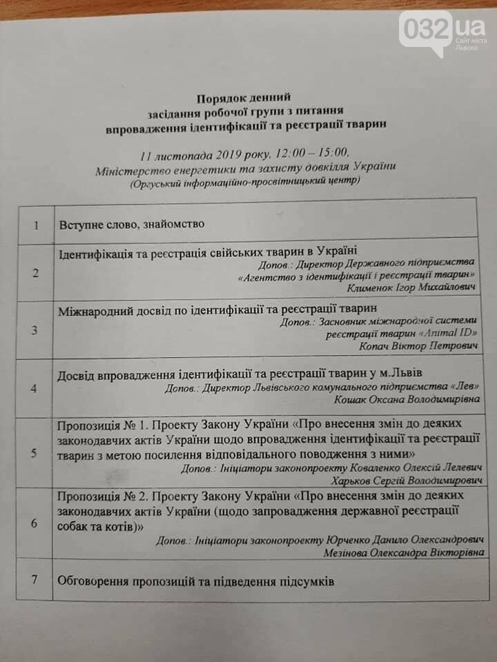 Порядок денний засідання, де видно, що враховують досвід Львова/Facebook Оксани Кошак