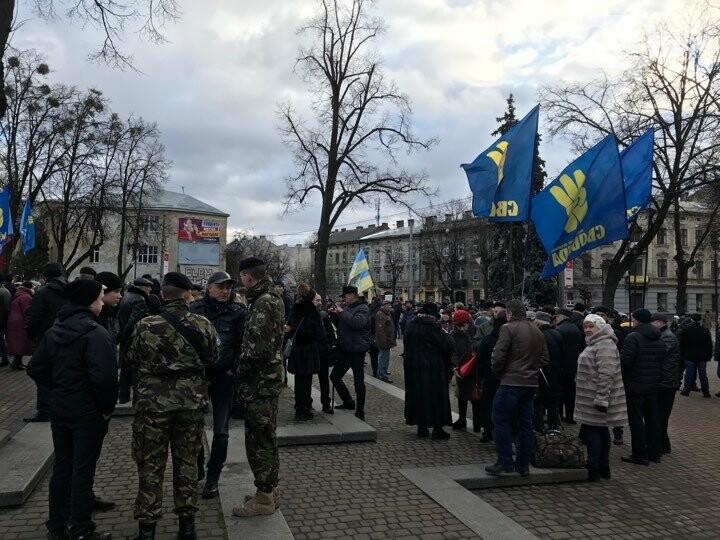 Захід до 111-ї річниці з Дня народження Бандери, Львів, фото: 032.ua