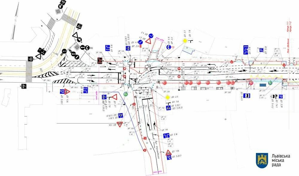 Схема об'їзду. Фото - ЛМР