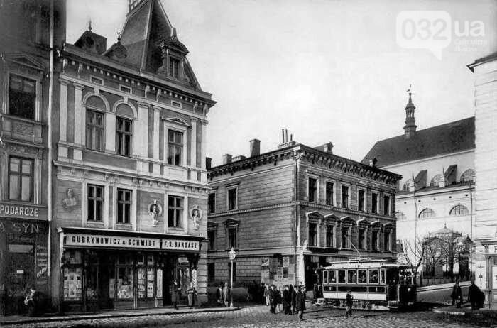 """Книгарня """"Губриновича і Шмідта"""" на вул. Театральній. Фото 1894 року"""