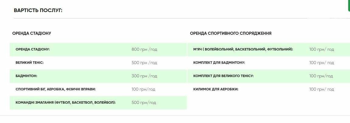"""Ціни на розваги у гірськолижному комплексі """"Плай"""", Скріншот - 032.ua"""