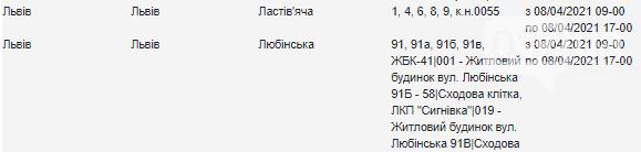 Графік планових відключень світла у Львові на 8 квітня, — АДРЕСИ, фото-2