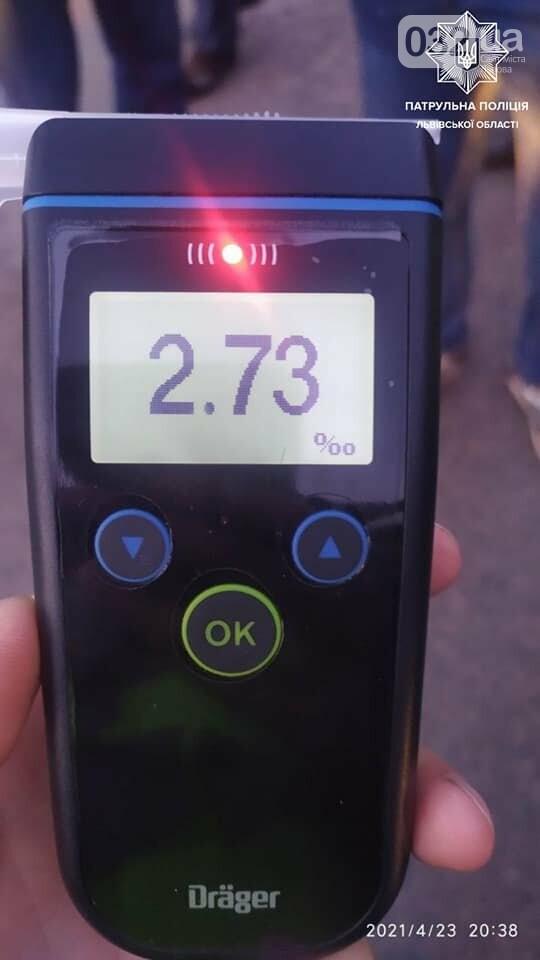 Винуватець ДТП був п'яний, Фото: Патрульна поліція Львівської області