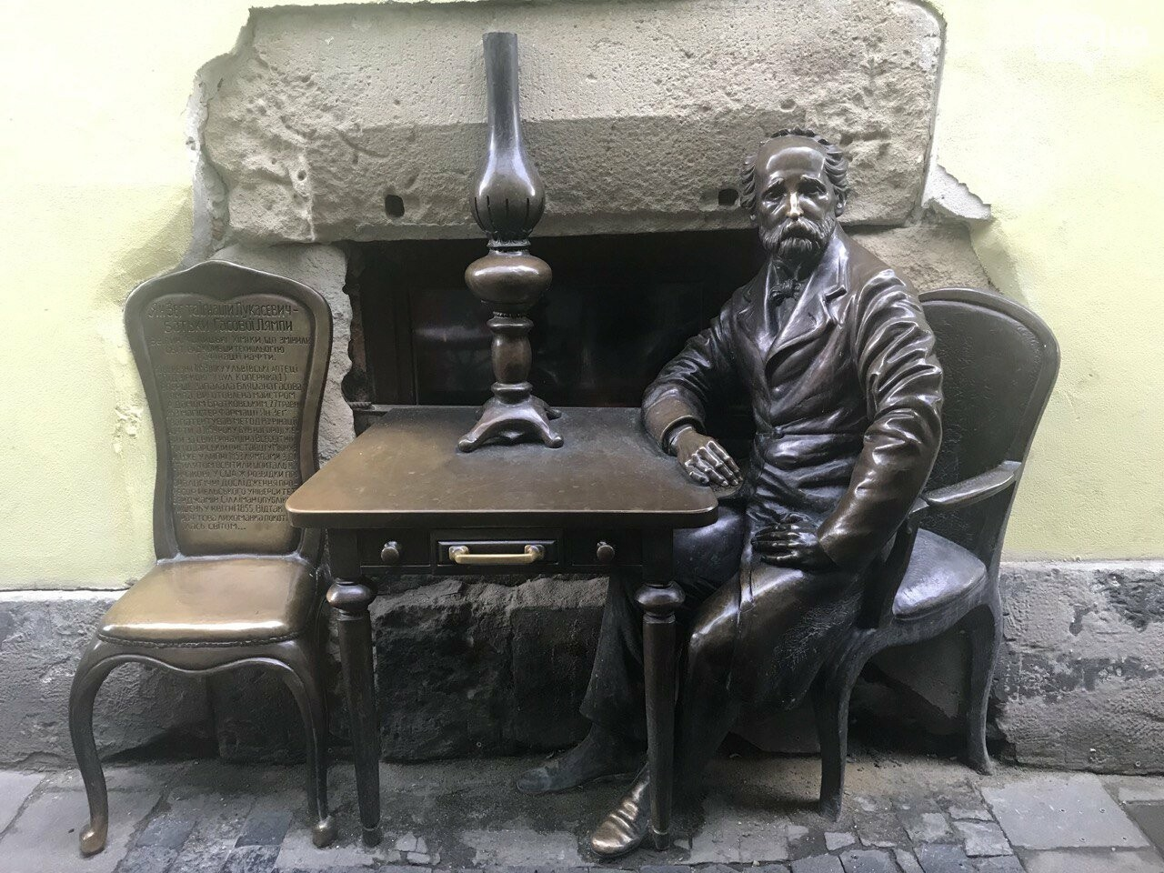 Пам'ятник винахідникам гасової лампи, Фото: 032.ua
