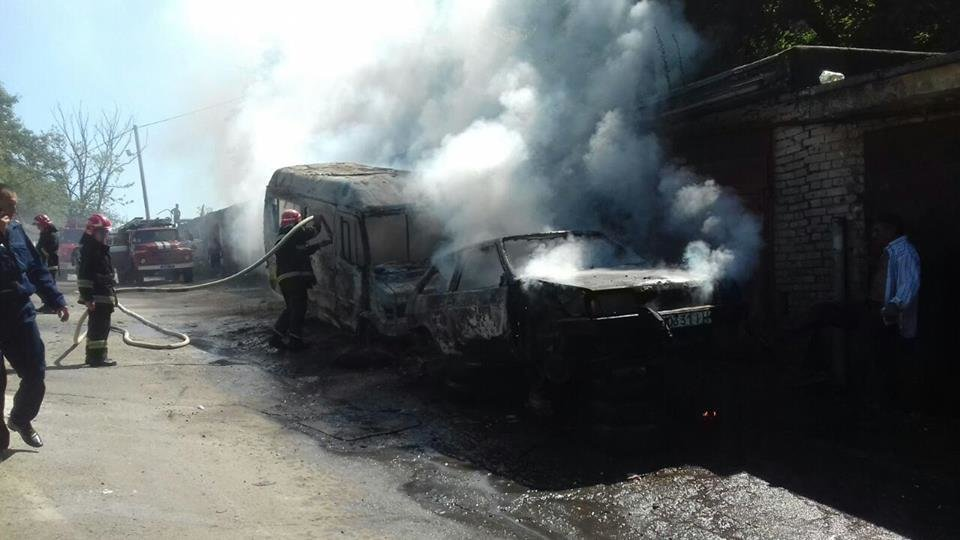 Фото з місця пожежі, Джерело фото: ГУ ДСНС України у Львівській області