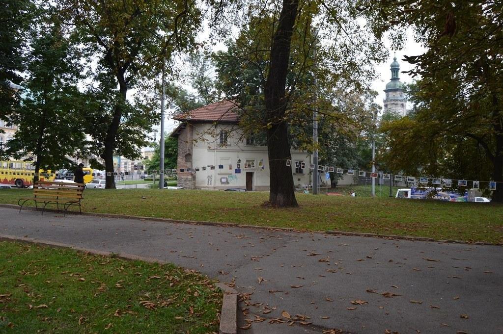 У центрі Львова розвісили фотографії на мотузках , фото-4