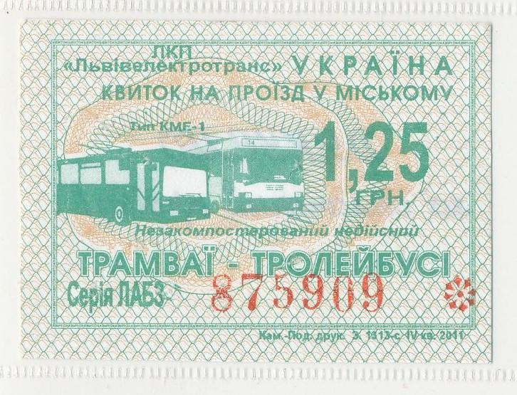 Як змінився вигляд проїзних квитків в електротранспорті Львова за останні 20 років. Фото, фото-11