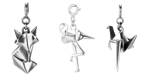 Незвичайні срібні підвіски за мотивами орігамі, фото-1
