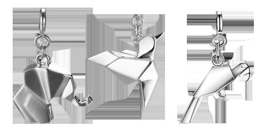 Незвичайні срібні підвіски за мотивами орігамі, фото-2