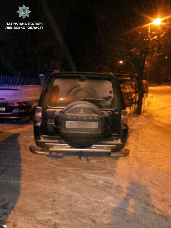 Львівські патрульні затримали п'яного водія, який намагався пішки втекти від поліції. Фото, фото-1, Фото: патрульна поліція Львівщини