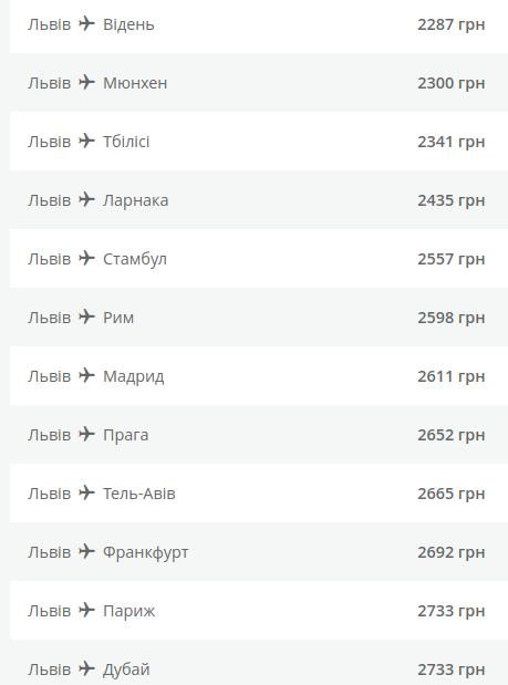 МАУ оголосила продаж квитків зі Львова в Європу та Азію із 30% знижкою. Список, куди можна полетіти , фото-2