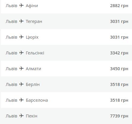 МАУ оголосила продаж квитків зі Львова в Європу та Азію із 30% знижкою. Список, куди можна полетіти , фото-3