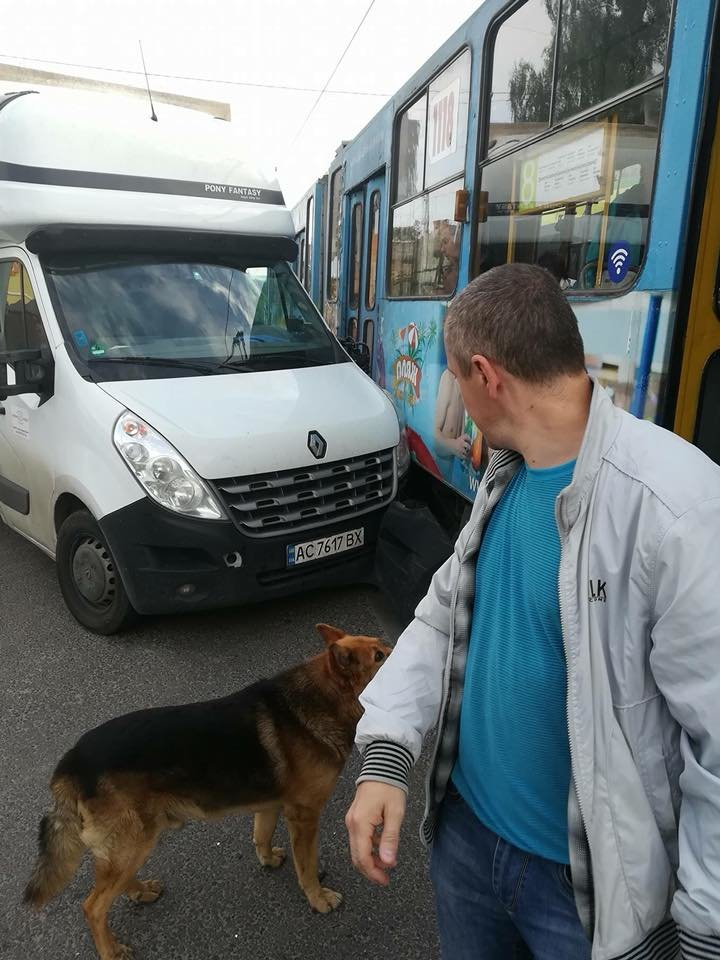 У Львові не розминулися фургон та трамвай, - ФОТО , фото-1, Фото: Ігор Зінкевич/Facebook.com