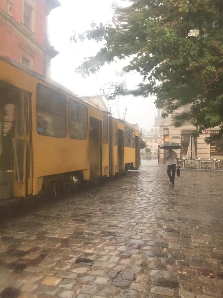 У Львові масштабна злива зупинила рух транспорту й затопила вулиці, - ФОТО, фото-8