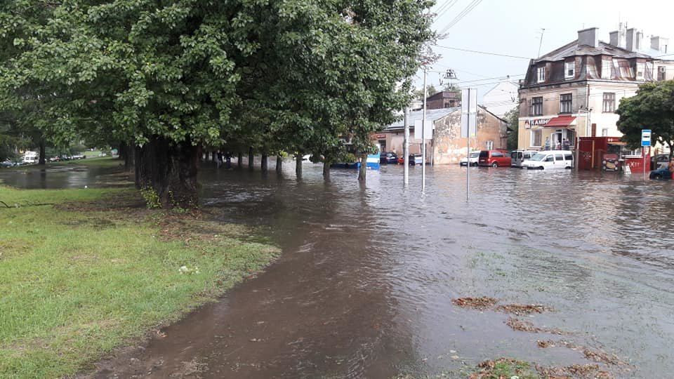 У Львові масштабна злива зупинила рух транспорту й затопила вулиці, - ФОТО, фото-19