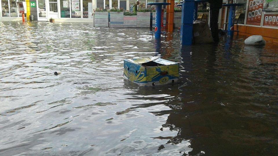 У Львові масштабна злива зупинила рух транспорту й затопила вулиці, - ФОТО, фото-23