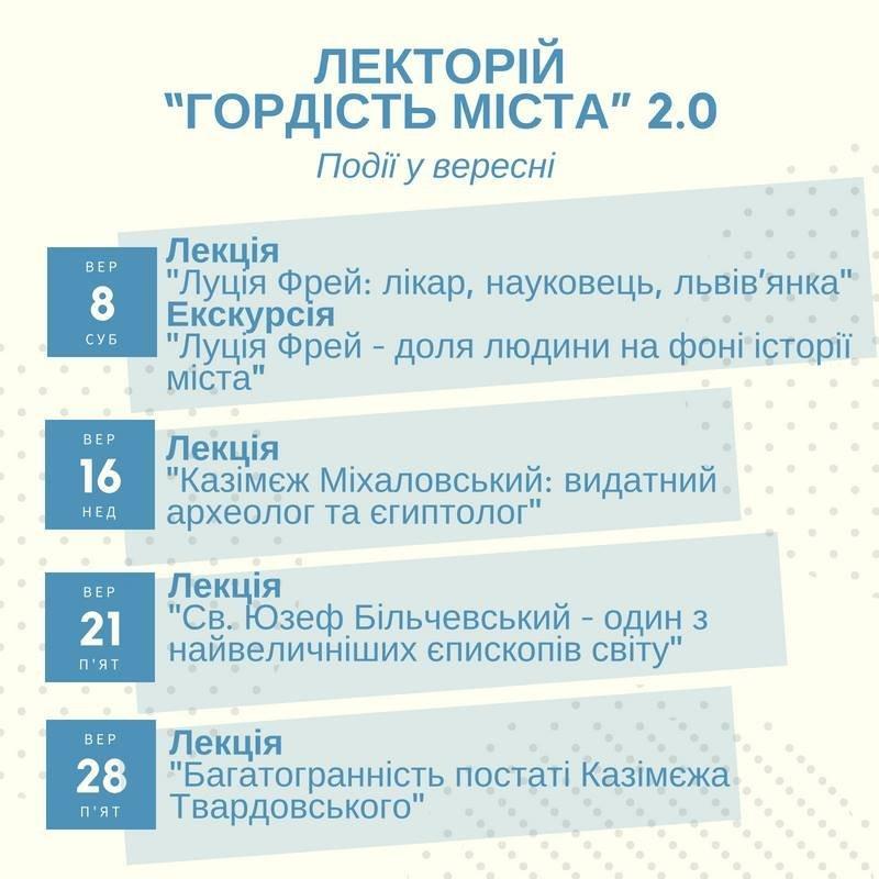 Видатні львів'яни: у місті проведуть цикл безкоштовних пізнавальних лекцій, фото-1