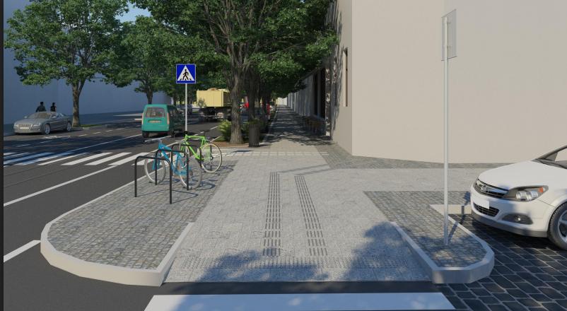 """Ділянку тротуару на Бандери облаштовують за проектом """"Вулиці для всіх"""", - ФОТО, фото-6, Візуалізацію надали в «Інституті міста»"""