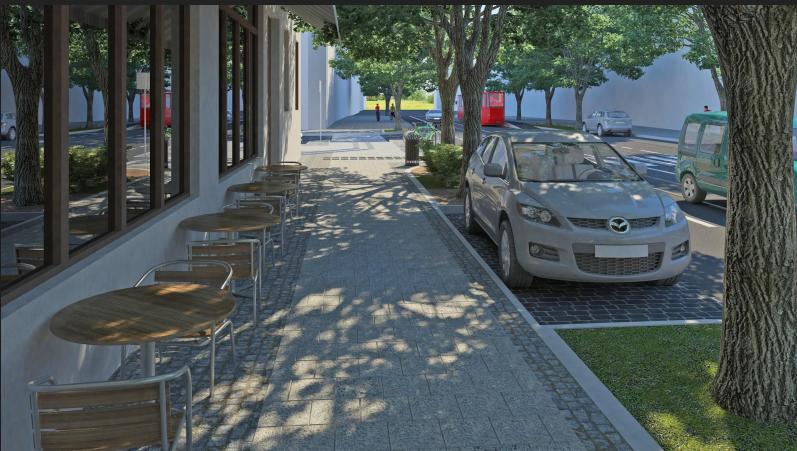 """Ділянку тротуару на Бандери облаштовують за проектом """"Вулиці для всіх"""", - ФОТО, фото-5, Візуалізацію надали в «Інституті міста»"""
