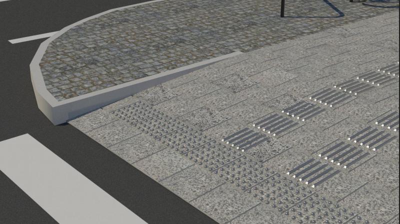 """Ділянку тротуару на Бандери облаштовують за проектом """"Вулиці для всіх"""", - ФОТО, фото-7, Візуалізацію надали в «Інституті міста»"""