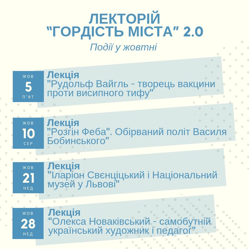 Видатні львів'яни: у місті проведуть цикл безкоштовних пізнавальних лекцій, фото-2