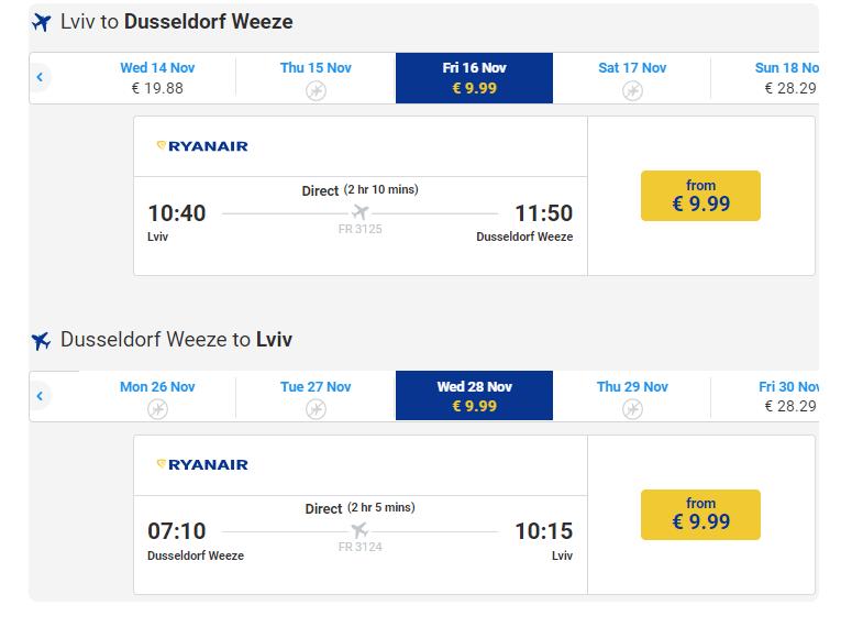 Авіаквитки зі Львова від 10 євро  Ryanair оголосив розпродаж. Де ... 94834ee1224f1