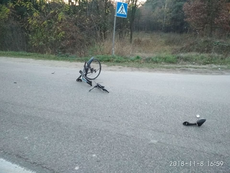 У ДТП поблизу Львова загинули мотоцикліст та велосипедист, - ФОТО, фото-2, Фото: ГУ Нацполіції Львівщини