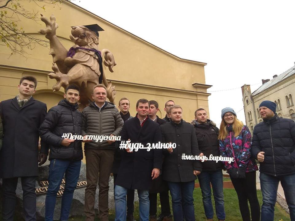 До Дня студента львівських левів одягнули у мантії, - ФОТО, фото-1, Фото: Khrystyna Protsak/Facebook.com