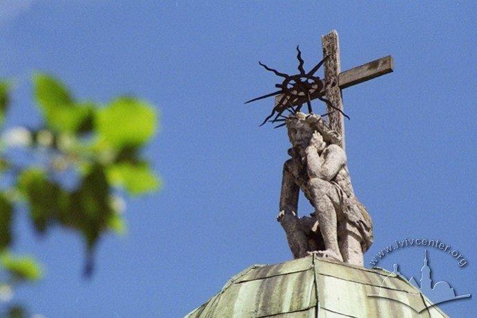 У Львові студенти збиратимуть кошти на відновлення скульптури Ісуса на каплиці Боїмів, фото-1