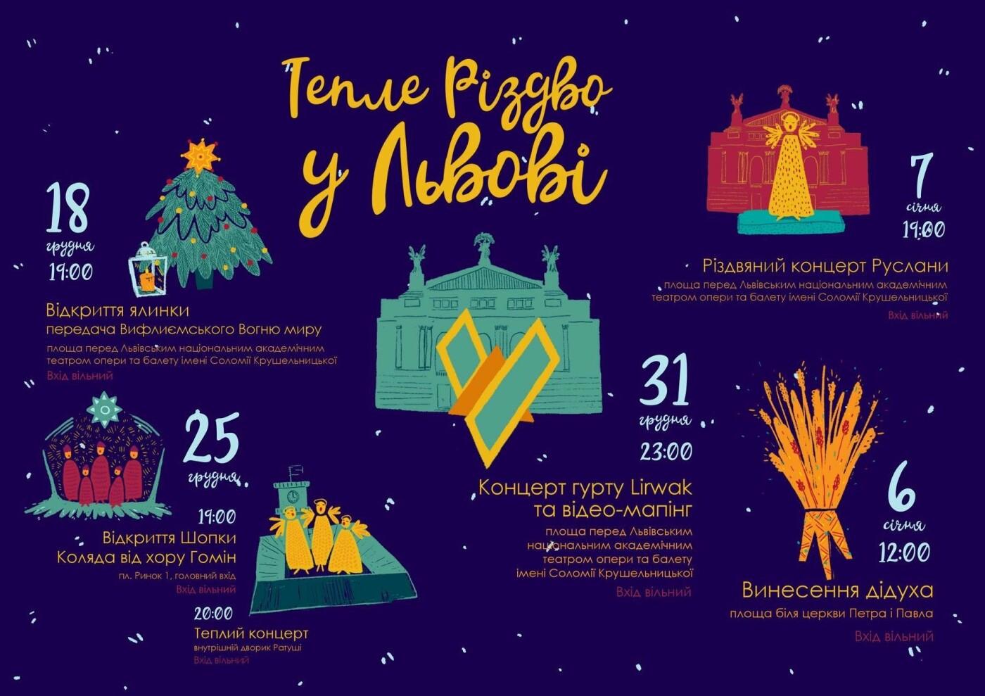 Як у Львові відзначатимуть Новий рік та Різдво. Повна програма, фото-1