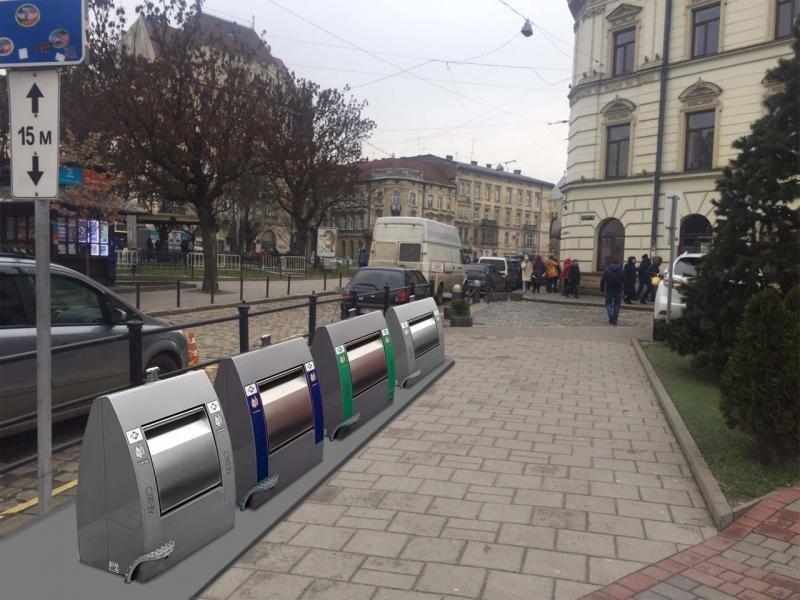 Підземний майданчик для збору ТПВ на площі Соборній у Львові запрацює наступного тижня, фото-1