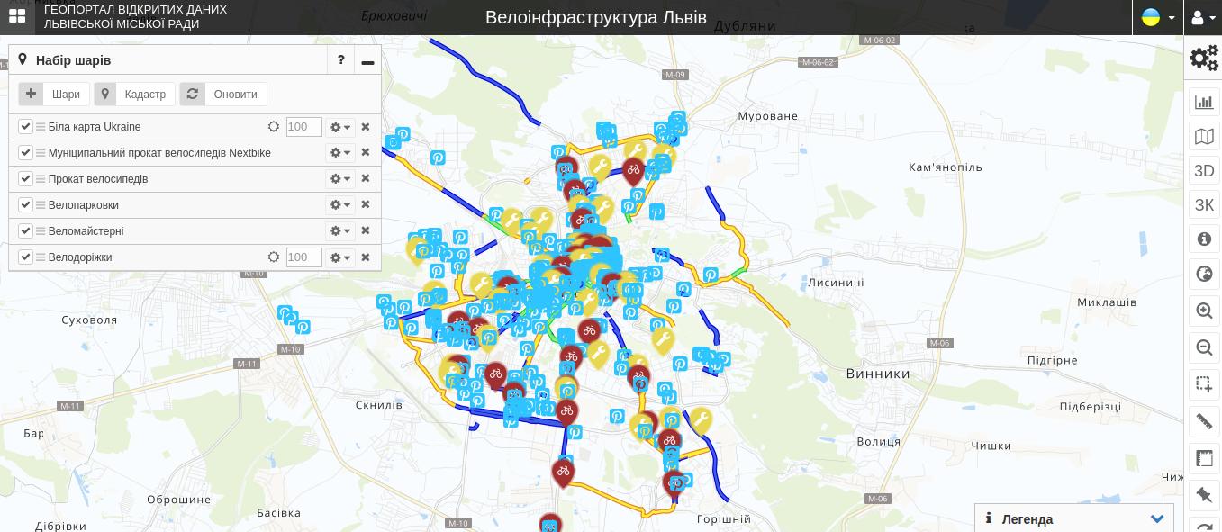На Геопорталі Львова відтепер можна знайти інформацію про велоінфраструктуру, фото-1