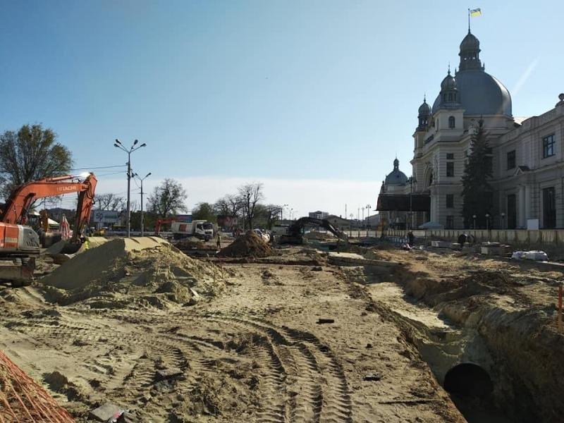 У Львові ремонтують площу Двірцеву, - АКТУАЛЬНІ ФОТО, фото-3, Фото: ЛМР