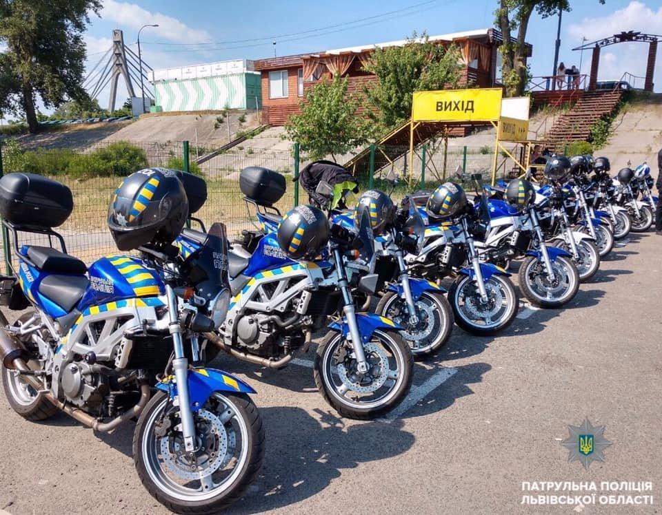 Львів патрулюватимуть копи на мотоциклах, фото-1, Фото: патрульна поліція Львівщини