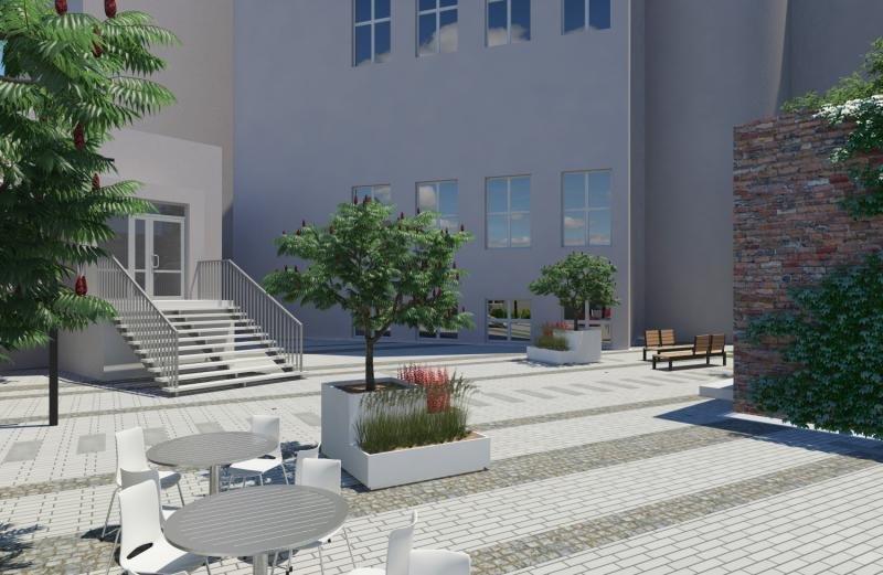 Яким буде оновлений дворик у театрі Лесі, - ВІЗУАЛІЗАЦІЯ, фото-2